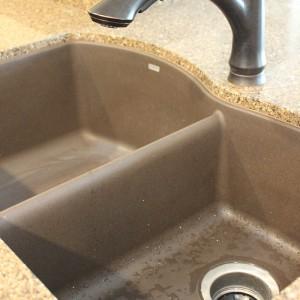Kitchen sink and granite countertop